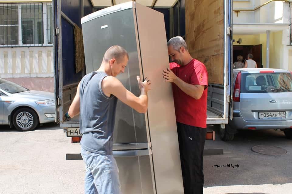 Перевозка холодильника вертикально